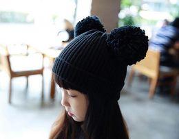 cabeça de bulbo Desconto 2018 chapéus de inverno de crochê chapéu infantil rosto Sorrindo conjunto de cabeça cap bulbo manter quente malha tampão 20