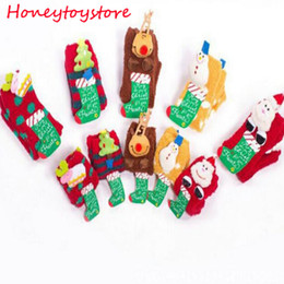 Wholesale Ladies Cashmere Socks - Hot Sale Winter Women Socks Thicken Coral Cashmere Christmas Gift Girl Cute 3D Cat Bear Fox Casual Warm Ladies Soft Socks