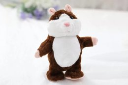 Wholesale Hamster Wholesale - Electronic Talking Hamster Plush Toys Best Early Educational Toy Christmas Gift Speaking Sound Stuffed Electric Pets