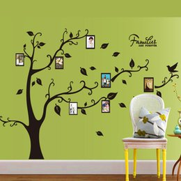Wholesale Photo Stickers Paper - Large Black Photo Stickers Stickers Tree Living Room Bedroom Can Remove The Memory Tree Photo Wall Stickers