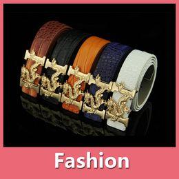 Wholesale Korea Mans Style - Korea Style High Quality Hot Selling Fashion Crocodile Designer Belts Chinese Dragon Brand Imitation Leather Belt For Men 160920