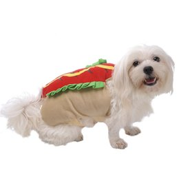 Wholesale female funny costumes - Dogs cats Hamburger coats doggy funny festival costume hoodies puppy jackes pet dog cat suit 1pcs
