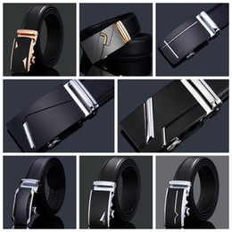Wholesale wholesale quality leather belts - 78 Styles Brand Designer Men's Belts European Style Brand Waistbands High Quality PU Leather Automatic Buckle Belts CCA7706 50pcs