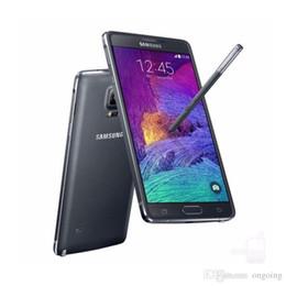 Wholesale Original Windows - 100% Refurbished Original Samsung Galaxy Note 4 N910P N910A N910F Unlocked Phone 5.7 Inch 3GB RAM 32GB ROM 4G FDD-LTE 16.0M DHL Free