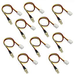 Resistor de cabo on-line-Atacado- 10Pcs / Lot Ventilador Cabo Resistor 12V 3 pinos macho para 3 pinos Feminino PC Fan Extensão de Alimentação Alongar Cabo de Arame para ventilador de refrigeração
