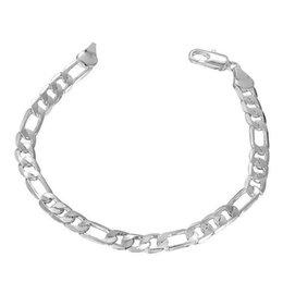 braccialetto di fascino piatto Sconti Nuovi gioielli in argento placcato Spedizione gratuita Placcato in argento placcato con gemelli a catena 6M piatto tre un braccialetto Gioielli per uomo H219