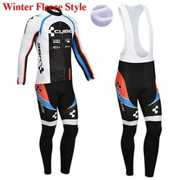 Wholesale Cube Cycling Set - Cube Winter thermal fleece clothes cycling jersey bib pants MTB bicycle wear set ropa maillot ciclismo 2018