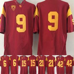 Wholesale Manning Bowman - 2016 nova USC Trojans 6 Cody Kessler 15 Michael Bowman 42 Uchenna Nwosu 9 JuJu Smith 21 Su'a Cravens vermelho sports men college Jerseys