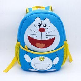 Wholesale Children S Backpacks Baby - Kawaii Cartoon Doraemon 3D Baby Backpack Bags Fashion Cute Children Kids Boys Girls Animals Toy School Bags Neoprene S-1815