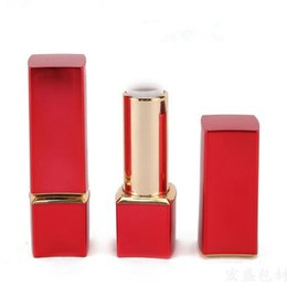 Wholesale good magnets - Empty Magnet Lip Balm Tubes Container Lipstick Fashion Cool Lip Tubes Lipstick Tube Red Color DIY Good Quality F20172114
