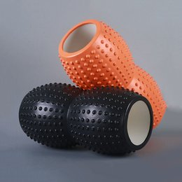 Wholesale Fitness Equipment Design - Wholesale-New Design Massage Muscles Yoga Foam Roller Floating Point Fitness Gym High Density Yoga Blocks Exercises Equipment 33x16CM