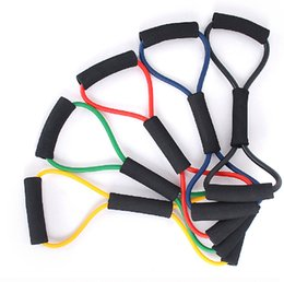 Wholesale Pc Expander - 120 pcs lot Resistance 8 Type Expander Rope Workout Exercise Yoga Tube Sports free shipping