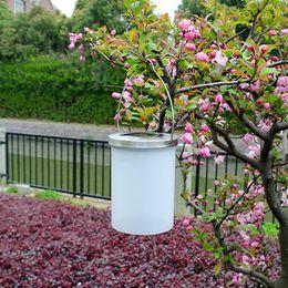 Impermeabile lampada solare esterna a LED lampada da notte a forma di secchio a forma di cortile giardino produttori di lampade da giardino da luci blu cubo ghiaccio a cubetti fornitori