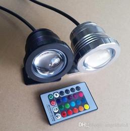 Argentina Bombilla subacuática Light10W RGB Lámpara impermeable IP68 con cambio de color Función de memoria del controlador remoto para fuente de piscina Uso al aire libre DC12V Suministro
