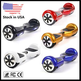 Wholesale Electric Balance - Stock USA Christmas Gift Smart Scooters Electric Skateboard Self Balancing Wheel Hoverboard Balance Scooter 6.5 inch Two Wheels Drift Board