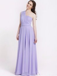 Wholesale Olive Varieties - Blue Pink Purple A Line Chiffon Variety to Wear Convertible Dress Long Bridesmaid Dresses Wedding Dress Girl Prom Party Dresses Women