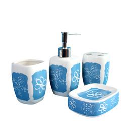 Wholesale Chrome Bath - The Household Decor Bathroom Accessories Toothbrush Holder Bracket Dispenser Soap Dish Storage Bath Decoration 4 pcs Sets