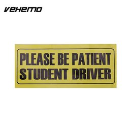 """Wholesale Bumper Vehicle - Please Be Patient Student Driver"""" Vinyl Decal Self Adhesive Car Vehicle Safety Bumper Signs UV Protected & Waterproof"""