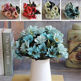 Wholesale French Artificial Flowers - Wholesale- 2016 Hot Sale French Rose Floral Bouquet Artificial Fake Peony Flower Arrange Table Wedding Home Decor Party Flores Artificiales