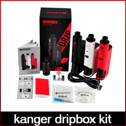 Wholesale Drip Tips Black - High Quality Kanger Dripbox Kit with KangerTech Subdrip Tank Dripmod Box Mod Wide Bore Drip Tip Black White Red Color freeshipping