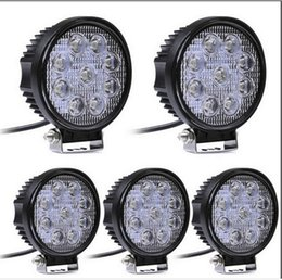 Wholesale 4x4 Atv - 4 Inch 27W LED Work Light Bar for Indicators Motorcycle Driving Offroad Boat Car Tractor Truck 4x4 SUV ATV Flood 12V
