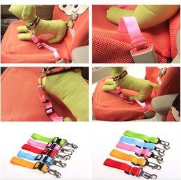 Wholesale Designer Dog Collars Leads - 500pcs 10 colors Pet Dog Car Seat Belt Collar Puppy Dogs Lead Designer Collars Adjustable Portable Harness Rope D635