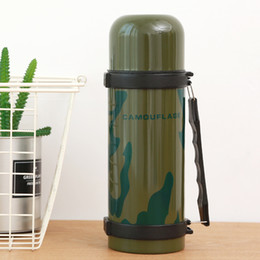 Wholesale Self Warming - Camouflage Vacuum cup 40oz 1200ml Large Thermo Stainless Steel Glasses Outdoor Sport TRAVE Kettle Camping Climbing Water supply Car Mug