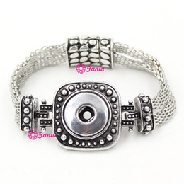 Wholesale Magnets For Jewelry - 100% New Arrival 18mm Classic Chunks Snap Jewelry,Wholesale Metal Button Magnet Clasp Jewelry Snap bracelets for women Pulsera Bijoux