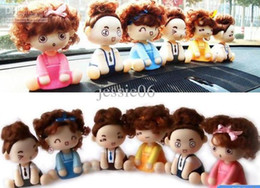 Wholesale Toys Doll Head - Lovely Mocmoc Doll Auto Car Dashboard Head Shaking Swing Decoration Toy Dolls Baby Gifts