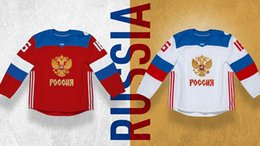 Wholesale Youth Hockey Cup - 2016 Team Russia World Cup of Hockey Jerseys Men Women Youth Custom Any Name And Number Ice Hockey Jersey,Good Quality Free Shipping