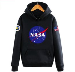 Wholesale American Flag Pullover - The newest Nasa Hoodies Sweatshirts fashion new American Flag sport Active Coats Jackets Hoody Hoodies Sweatshirts For Men and Women lovers