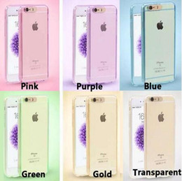 Wholesale Case Plastic Flash - Full Body Coverage Hybrid Ultra Thin Hard Plastic with Tempered Glass & Led Light Calling Flashing Case Cover For iPhone 5S 6 6S Plus