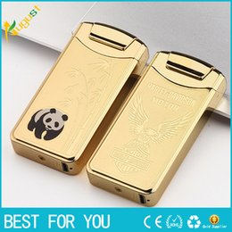 Wholesale Mini Rechargeable Lighter - New hot metal lighters portable mini bar USB rechargeable lighter windproof electronic cigarette lighter arc lighter