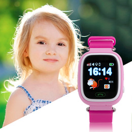 Wholesale Watch Phone Touch Screen Wifi - Wholesale- Children Student Touch Screen Smart Watches GPS Positioning Phone Call WiFi Anti Fall Off Waterproof Wristwatch Q90