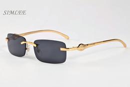 ce6e4578e7 8 Fotos Gafas de sol de diseñador de marca de lujo para hombre gafas de  cuerno de búfalo