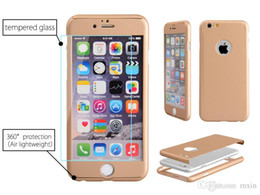 Wholesale iphone circle case - Luxury 360 Derece Full Body Protection Cover Cases For iPhone 5 5S SE 6 6s Plus case With Tempered Glass Circle