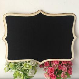 Wholesale Event Decorations - Large 20x27cm Handmade Wooden Blackboard Chalkboard chalk board Framed for Wedding Event Party Decoration Baby Shower