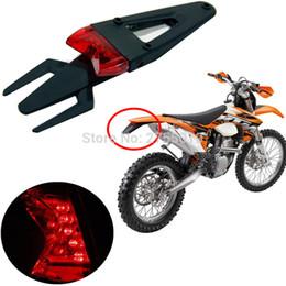 Wholesale Back Fender - Universal Motorcycle 12 LED Brake Tail lights lamp Rear Fender Back Splash Guard Motocross Dirt Bike