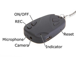 Wholesale car remote camera spy camcorder - 808 Mini DV Camera Spy Car Key Keychain Hidden Camera Mini Video Audio Recorder Remote DVR Micro Camcorder Security Cam with No Retail Box