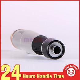 Pino elétrico da pele on-line-Uso Doméstico Elétrica Derma Roller Pen Com 4000 ~ 6000 Por Volta 12 Pin Micro Agulhas Rejuvenescimento Da Pele Poros Encolher