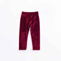 Pantalones de bebé de terciopelo online-2018 Nuevo Estilo Pleuche Velvet Girls Pantalones Moda Soft Skinny Kids Pantalones Fit 1-4T Baby Boys Girls Pantalones