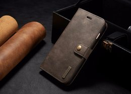 Wholesale Mate Wallet - Detachable Wallet Case For iPhone 6 7 7Plus Samsung s7 Huawei P9 Mate 9 2in1 Genuine Leather Phone Case Multi-function with Card Holder