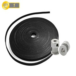 Wholesale 3d Printer Pulley - Freeshipping 3meter Lot GT2-6mm open timing belt width 6mm And 2Pcs 20-GT2-6 GT2 Pulley For 3D Printer DIY