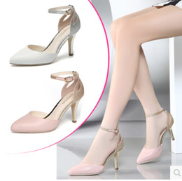 Wholesale Ladies Retro Sandals - New Summer Sandals For Women Fashion Retro Trend High-heeled Sandals Ladies Sexy Genuine Leather Shoe Girls Lovely Fish Mouth Pointed Shoes