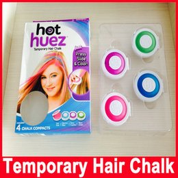 Wholesale Color Hair Dye Set - Hair Chalk Powder Dye Soft Pastels Salon Hair Color Crayons Fashion Christmas DIY Temporary Wash-Out 4pcs set