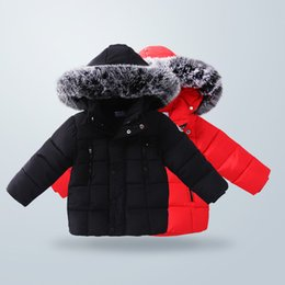 Wholesale Snow Coat For Kids - Newest Winter Down Jacket Parka For Girls Boys Coats Cotton Jackets Children's Clothing For Snow Wear Kids Outerwear & Coats DC011