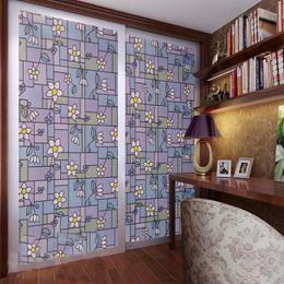 Wholesale Kitchen Door Glass Stickers - 90x200cm Translucent glass door stickers study kitchen window decals Uv paster electrostatic stick