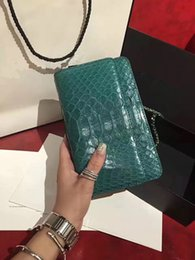 Wholesale Genuine Python Leather - fashion women 2017 winter new style python skin leather bag size 19cm, women party mini size bag, shoulder bag original package