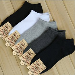 Wholesale Hot Sox Sale - Wholesale-Hot Sale!Calcetines Men Cotton Socks High Elastic Good Quality Socks Men Solid Sport Sox Running socks 5 Colors