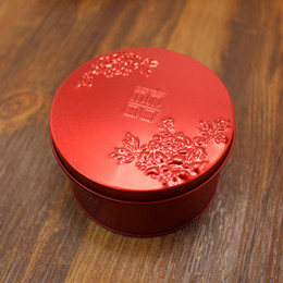 Wholesale Wedding Favours Free Shipping - Wed favor boxes tin brand new red wed candy box favour boxes wedding supplies free shipping